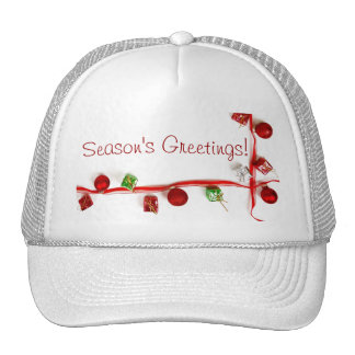 Festive Colorful Christmas Decor Ribbon Gifts Hats