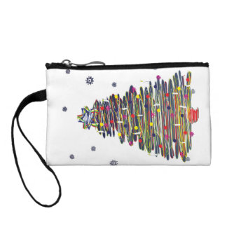 Festive Colorful Christmas Tree (Customize It!) Coin Wallets
