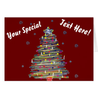 Festive Colorful Christmas Tree (Customize It!) Greeting Card