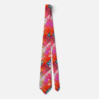 Festive Colorful Heart Pattern Tie