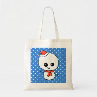 Festive Cute Snowman Tote Bags
