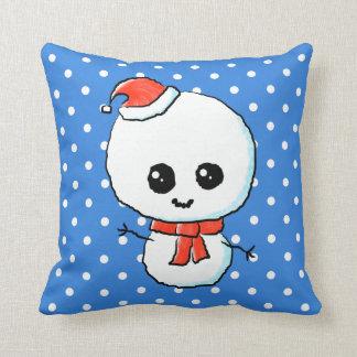 Festive Cute Snowman Pillows