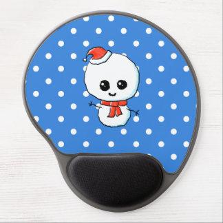 Festive Cute Snowman Gel Mouse Pads