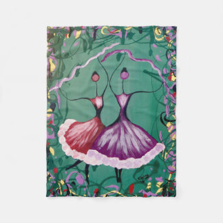 Festive Dancers Fleece Blanket