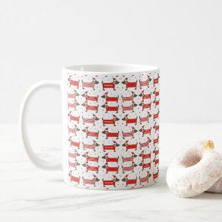 Festive Dog Pattern Christmas Mug