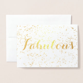 Festive Fabulous Birthday Foil Card