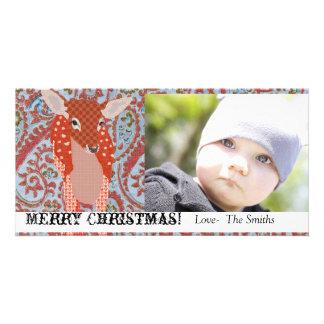 Festive Fawn II Christmas Photo Card