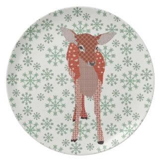 Festive Fawn Plate