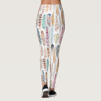 Festive Feather Leggings boho festival style