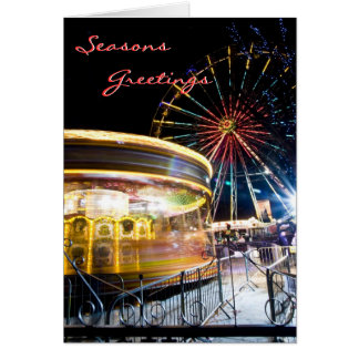 Festive Ferris Wheel Christmas Card