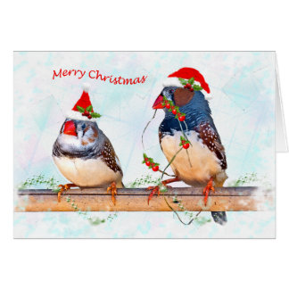 Festive Finches Card (Enter Your Own Message)