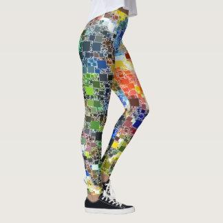 Festive Floating Tile Artwork Leggings