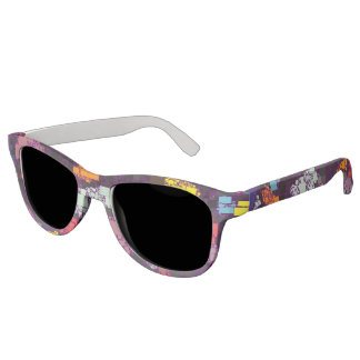 Festive Floating Tile Artwork Sunglasses