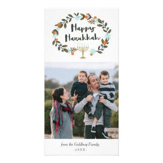 Festive Floral Hanukkah Card