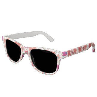 Festive Floral Print Sunglasses