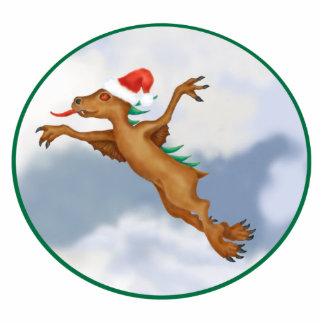 Festive Flying Chupacabra Ornament Photo Sculpture Decoration
