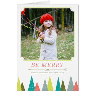 Festive Forest Holiday Photo Greeting Cards
