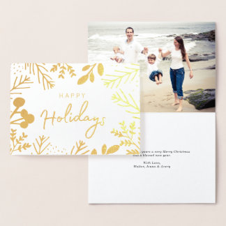 Festive Frame Holiday Foil Card