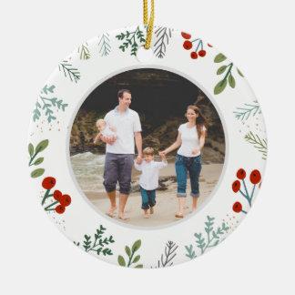 Festive Frame Holiday Keepsake Ceramic Ornament