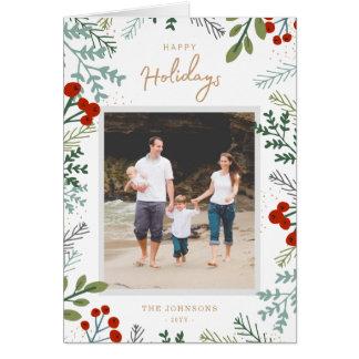 Festive Frame Holiday Photo Card