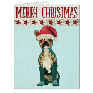 Festive Frech Bulldog Christmas Card