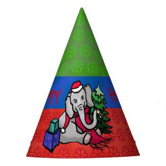 Festive Fun Charming Cartoon Christmas Elephant Party Hat