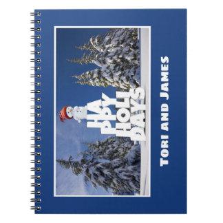 Festive Fun Snowman Photograph Frame Personalize Notebooks