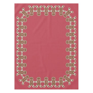 Festive Gingerbread Boys Tablecloth
