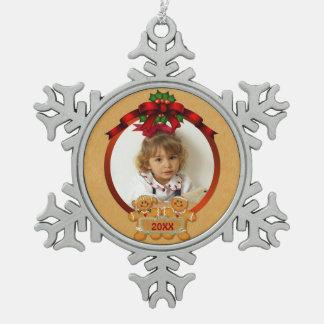 Festive Gingerbread Kids Photo Ornament