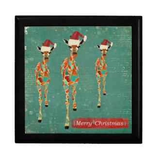 Festive Giraffes Christmas Gift Box