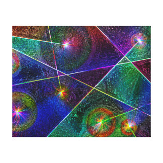 Festive Glow Stretched Canvas Prints