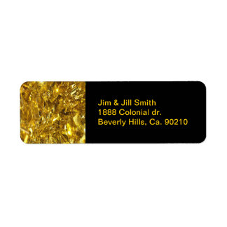 Festive Gold Foil Return Address Label