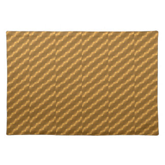 Festive, golden pattern placemat