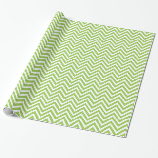 Festive Green Chevron Wrapping Paper