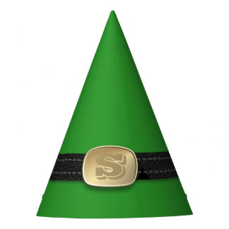 Festive Green Christmas Elf Belt Monogram Holiday Party Hat
