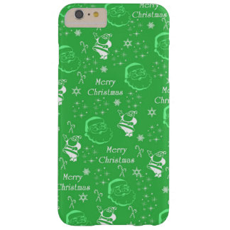 Festive Green Jolly Father Christmas Barely There iPhone 6 Plus Case