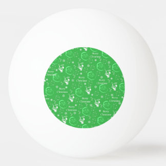 Festive Green Jolly Father Christmas Ping Pong Ball