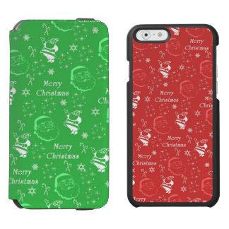 Festive Green Jolly Father Christmas Incipio Watson™ iPhone 6 Wallet Case