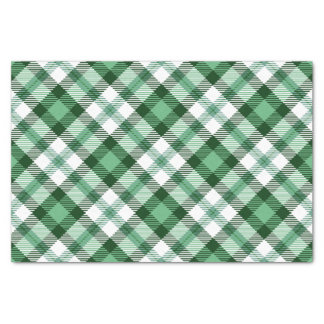 Festive Green Plaid Holiday Tissue Paper