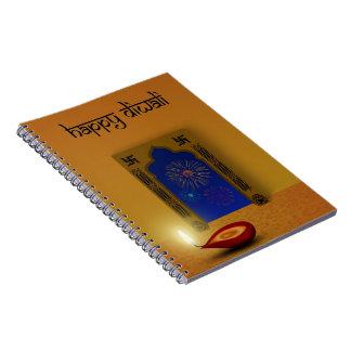 Festive Happy Diwali Fireworks - Notebook