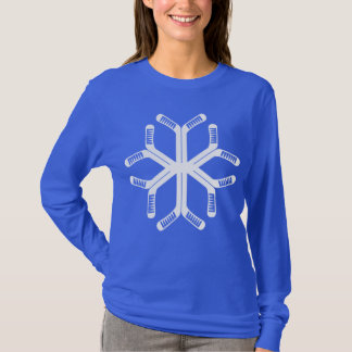 Festive Hockey Sticks Snowflake Tee