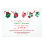 Festive Holiday Baby Shower Invites