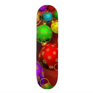 Festive Holiday Christmas Tree Ornaments Design Skateboard Decks