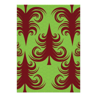 Festive Holiday Christmas Tree Xmas Design Personalized Invitation