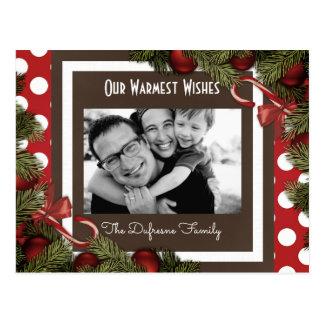 Festive Holiday Greetings Postcard