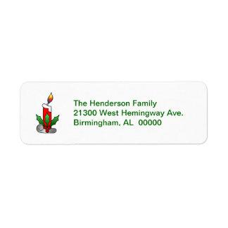 Festive Holiday Return Address Label