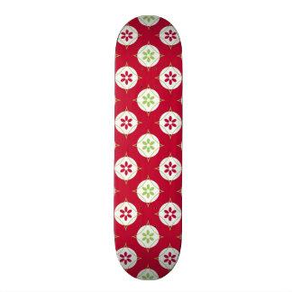 Festive Holiday Winter Pattern Red Green Custom Skate Board