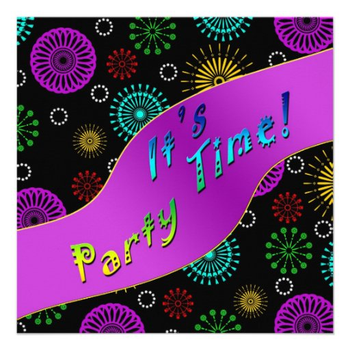 FESTIVE INVITATION - PARTY TIME INVITES
