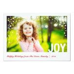Festive Joy Happy Holidays Photo Card Groupon Announcements