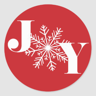 Festive Joy | Holiday Classic Round Sticker